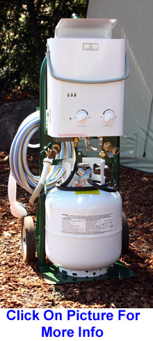 Small Portable Demand Water Heater on Hand Truck