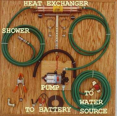 Vehicle Mounted Hot Water Heat Exchanger