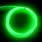 Raw 2.6mm EL Wire, Lime-Green ( Polar Bright 3 )