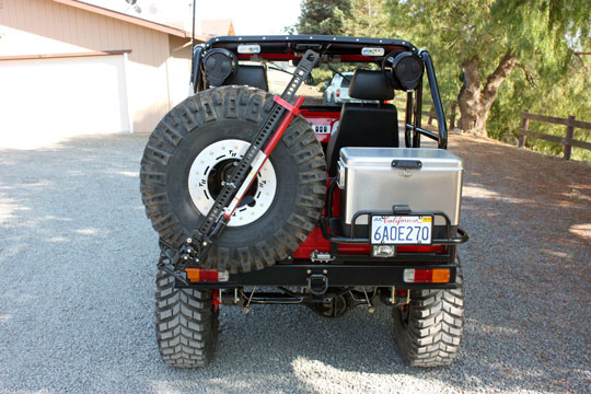 FJ40 Land Cruiser Rear Tire Carrier and Cooler Rack