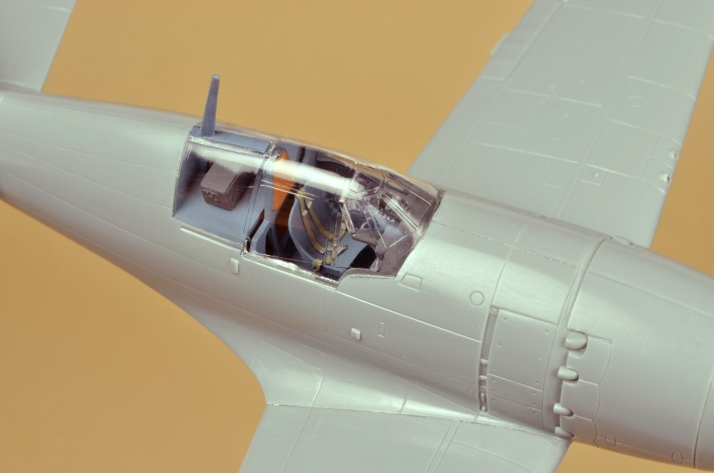Clear styrene canopy installed on fuselage & Scale 1/72 - The Models of Paul Gaertner - Build Jack 1