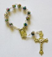 Multi Coloured Handheld Rosary.