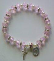 Pink Miraculous Medal Bracelet Miraculous Medal.
