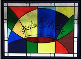 stained glass window, crown and thorns